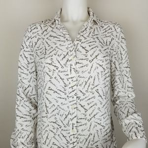 Banana Republic XS Classic Fit French Blouse